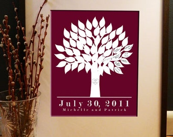 DIY 50 Signature Wedding Tree Guestbook - Customized - Any Size - Print Yourself