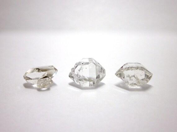 Herkimer Diamonds Genuine NY 3 Crystals 12mm - 12.5mm (Lot No. 1092) Upstate New York