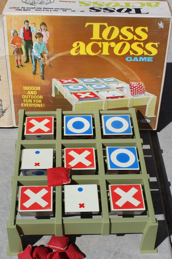 Vintage Ideal Toss Across Game Bean Bag Tic Tac Toe Game Yard