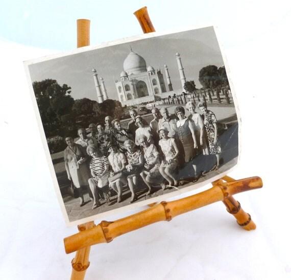 Vintage Photo of India Tour Group