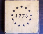 1776 wood wall plaque - MapleStreetShoppe