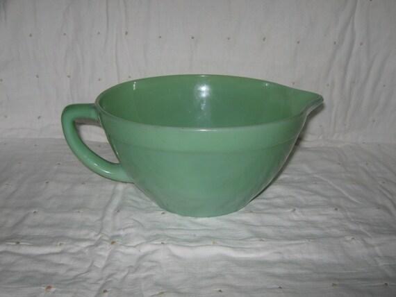 Fire king jadite jadeite batter bowl for Fish batter bowl