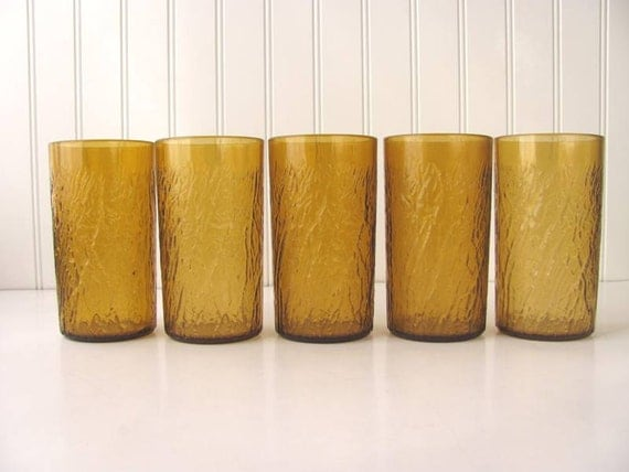 Vintage SiLite Amber Drinking Cups Tumblers Plastic Chicago