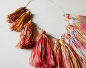 Circus - hand dyed tassel necklace/murMur