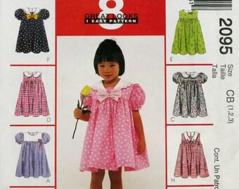 Toddler Dress Pattern Little Girl Clothes McCalls 2095