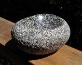 Reserved item - Hand carved granite river cobble stone bowl