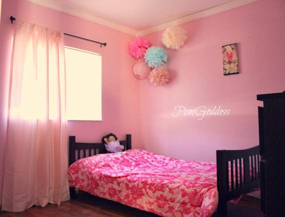 Items similar to children 39 s room decor 5 tissue paper pom for Pom pom room decor