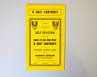 Vintage Contract Bridge Five Suit Instruction Booklet 1938
