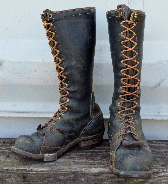1950s wesco whites highliner lineman smokejumper biker boots