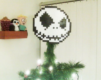 Nightmare Before Christmas Perler Bead Jack Christmas Tree Topper