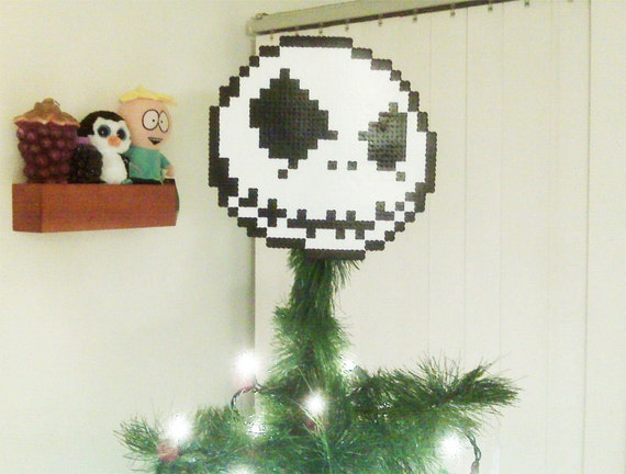 ... Nightmare Before Christmas Perler Bead Jack Christmas Tree Topper on