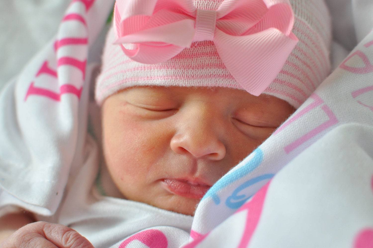 Newborn girl hat baby girl hat infant girl hat hospital