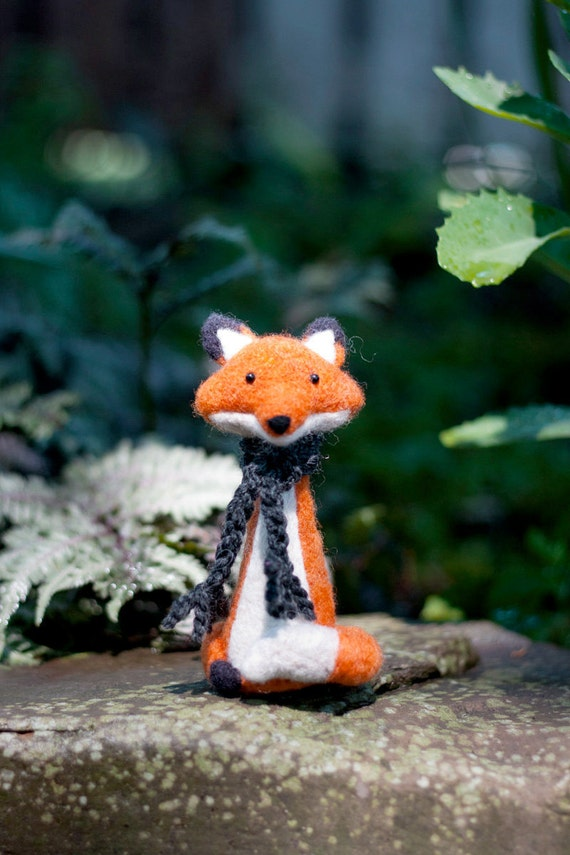 Henry, needle felted collectable fox