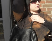 Faux Leather Handbag (Upcycled from an old jacket, OOAK)