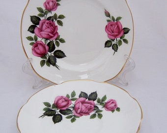 Royal Imperial of England plate and saucer, Vintage Finest Bone China