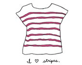 The Striped Tshirt - 5x7 Illustration Art Print