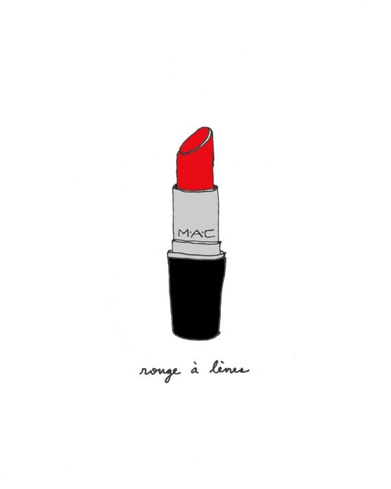 Perfect Lipstick - 5x7 Illustration Art Print