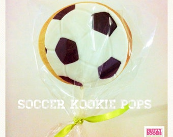 Soccer Ball Cookie pops
