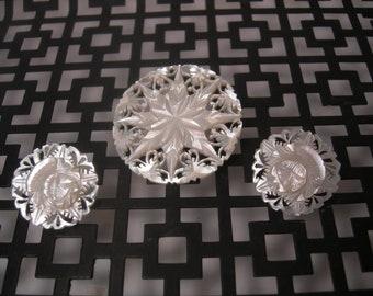 Vintage earrings and brooch set