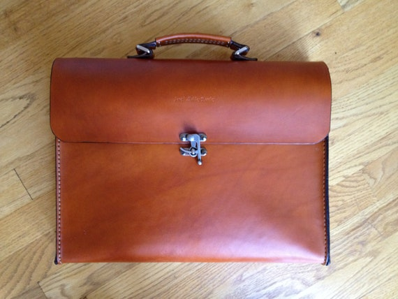 handmade leather briefcase made in usa items similar to leather briefcase handmade in the usa 9878