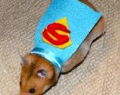 Superman hamster costume. Hamster / pet Halloween costumes by la Marmota Café.