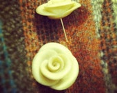Holiday Pearl Rose Studs