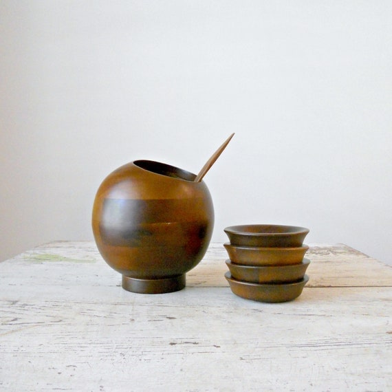 Vintage Hellerware Nut Bowl and Dishes - Mod, MCM