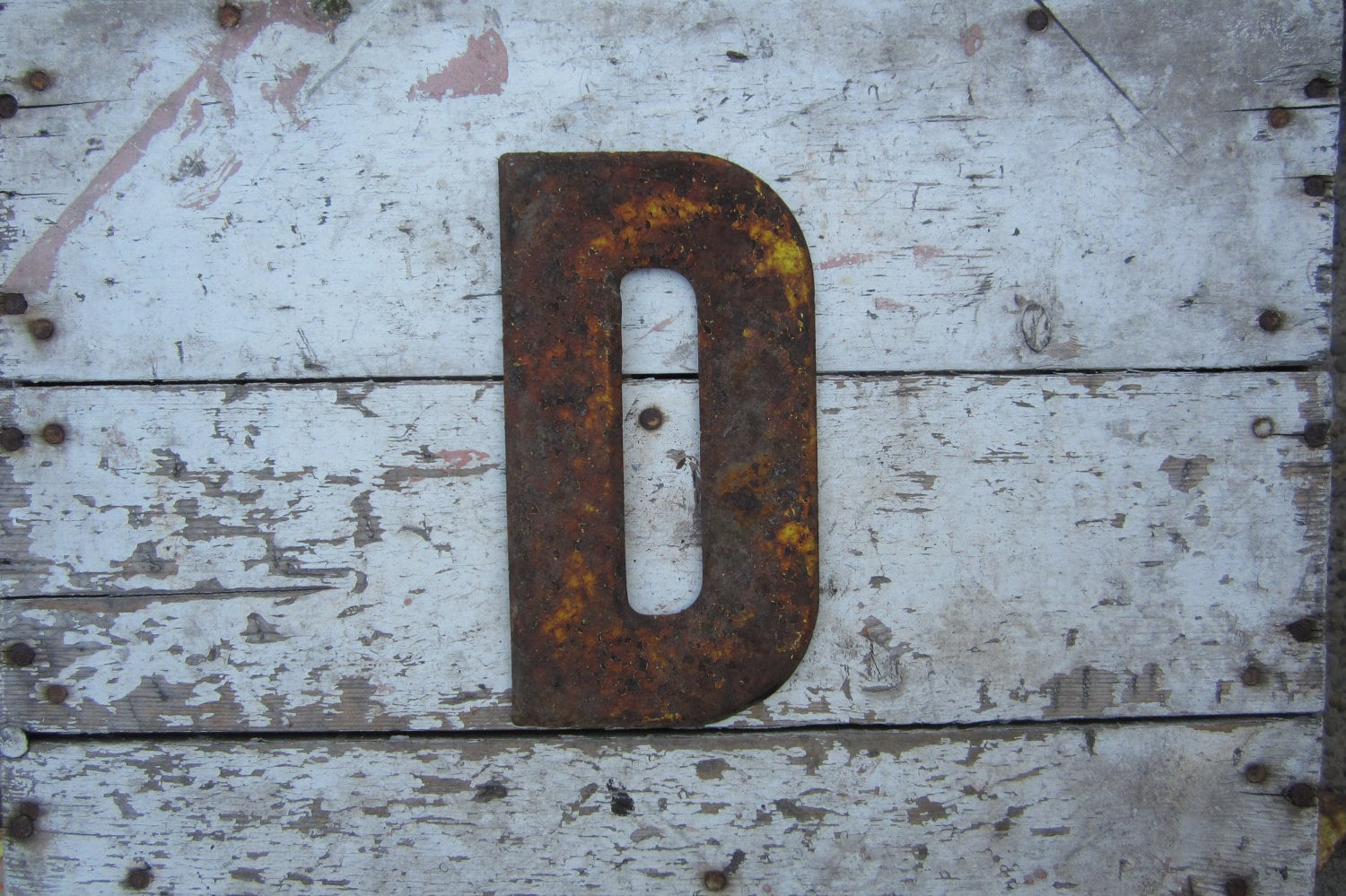 vintage metal letters vintage metal chippy letter d rusted sign by 25425