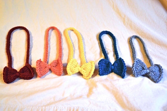 THREE Knit Bow Headband in Different Colors - You Pick