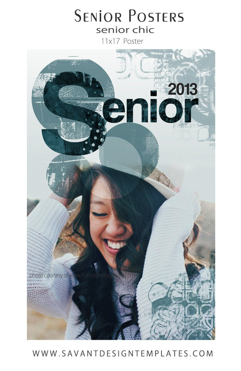 Senior graduation poster photography template 11x17 for 11x17 poster template photoshop