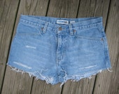 SALE- Vintage light wash Canyon River Blues distressed cutoff shorts size 7