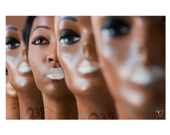 8x12inch C-Print / Black Woman Among Mannequin Heads Assimilate (Cyber Monday Sale)