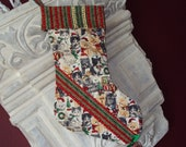 Christmas Stocking  for the Kitty cat lover or the kitty cat  roomy stocking  kids love this one  only two made  Niriahsattic quality