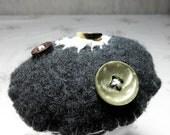 Sage Toadstool plush - felted wool