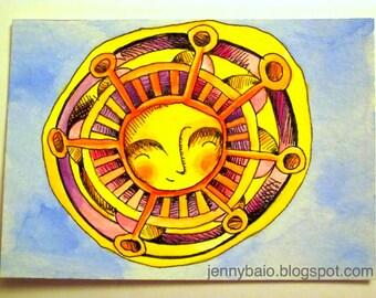 Sunshine Original Illustration ACEO