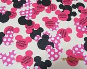 Minnie Mouse Confetti/Die Cuts/Embellishments