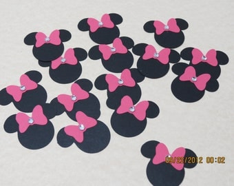 """1.5"""" Minnie Mouse Silhouette-Embellishment/Die Cuts"""