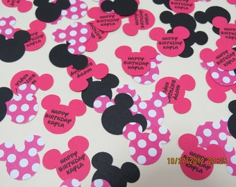 Minnie Mouse Confetti/Die Cuts/Embellishments