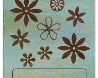Free US Shipping last one **vintaj flower embellishments set. Last one