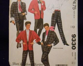 McCalls 9330   pants, jacket, skirt  size- 8, 10, 12, 14
