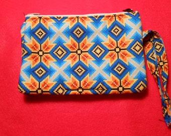 3 Slot Pocket, Zippered Coin Purse, New Design, tribal print
