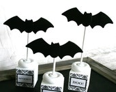 spooky eek boo bats halloween centerpiece