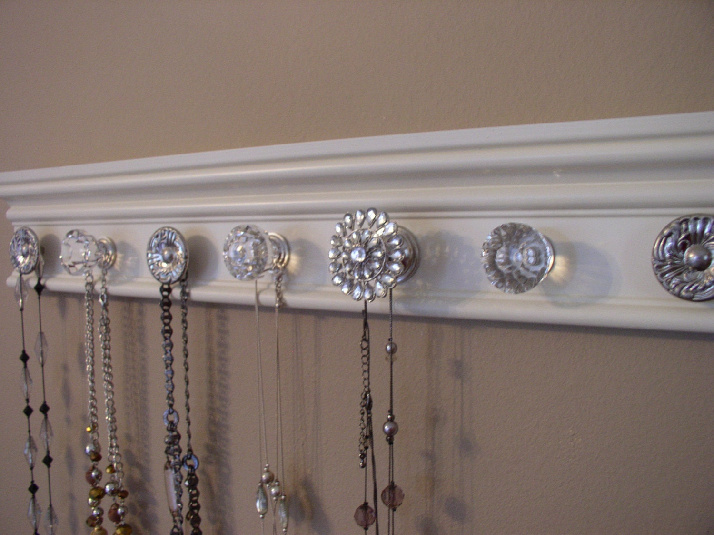 Jewelry holder this wall organizer has a rhinestone by - Kettenhalter wand ...