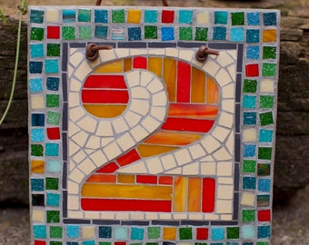 Mosaic House Number Template 2