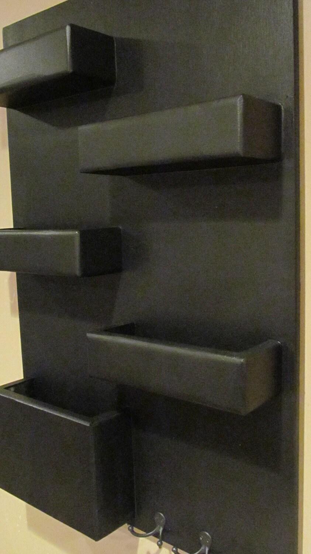 5 Pocket Mail Organizer Blackboard Small Vertical Wall Mounted