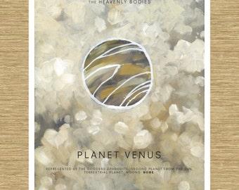 "Venus the Cloud Planet - Heavenly Bodies Series 11"" x 14"""
