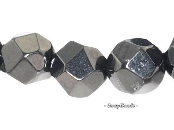 8mm organic black jet gemstones faceted nugget 8x7mm