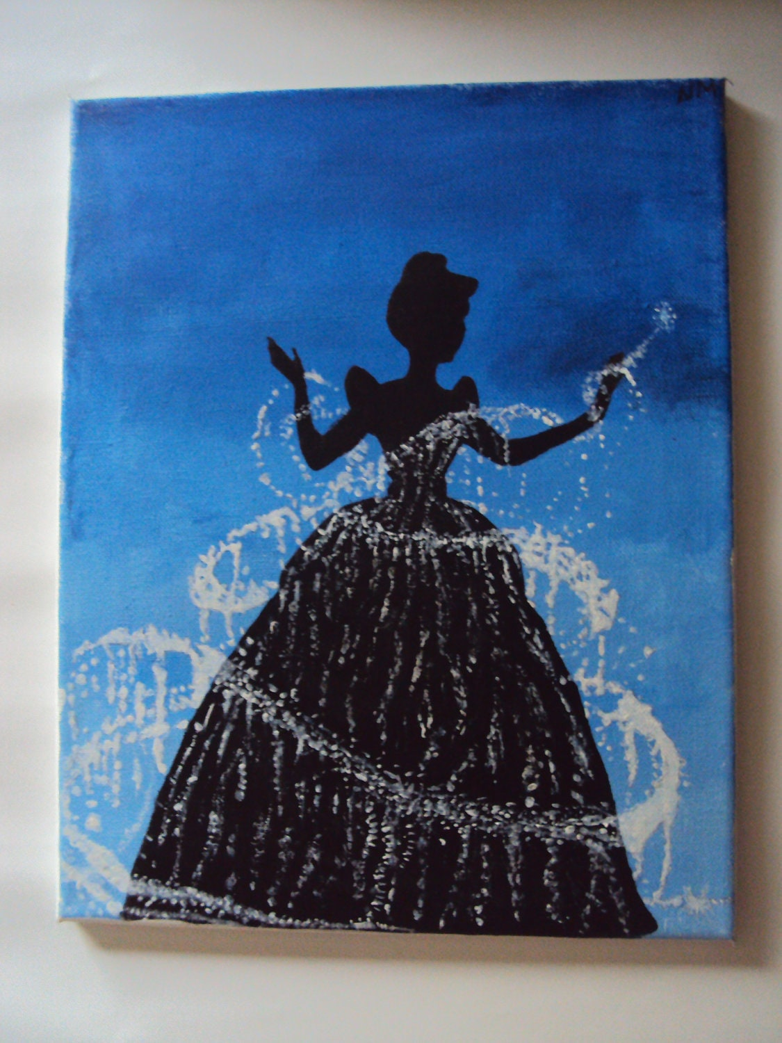 Disney princess cinderella canvas acrylic by stardustcreationz for Pretty acrylic paintings