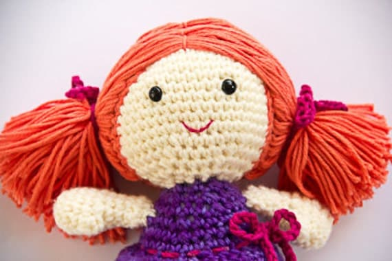 Basic Crochet Doll Pattern Free : CROCHETING DOLL HAIR CROCHET PATTERNS