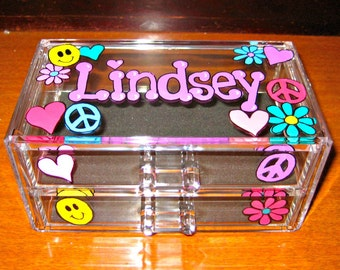 Personalized Acrylic Jewelry Box